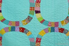 Single Girl Baby quilt (Blue is Bleu) Tags: moda kona scrappy denyseschmidt singlegirlquilt
