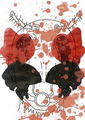 fobia 2 final (Enrique Panchana) Tags: red black art illustration fly ecuador rojo arte negro dibujo wacom mosca phobia ilustración insecto fobia digitaldraw
