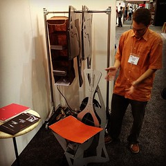 The Folditure rep said this chair is the world's thinnest luxury chair. Fold it and hang it! (Yahoo! Homes) Tags: dod2012 dwellondesign2012