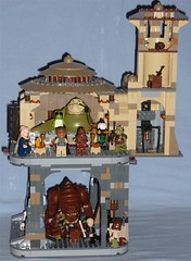 Lego Jabba's Palace + Rancor Pit (Darth Ray) Tags: star lego palace pit rancor together wars combined 75005 9516 jabbas