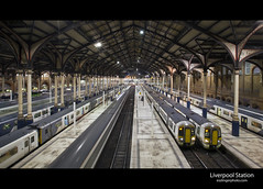 Leaving the Station (esslingerphoto.com) Tags: longexposure greatbritain light england london station architecture night train photography eos lights long exposure dof nightshot britain trains architectural single 5d nightshots mkii esslinger esslingerphotocom