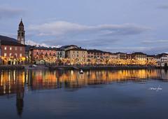Ascona by night (tenca's) Tags: longexposure winter panorama cloud lake night canon landscape lago eos tessin see ascona ticino nuvole suisse swiss locarno svizzera inverno paesaggi montagna notte ch lagomaggiore tencas montaim flickraward locarnese 5dmarkiii flickraward5 2470mmii