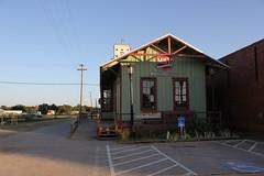 Old MKT Depot, Burkburnett, Texas (TexasExplorer98) Tags: railroad sunset mill rural texas trains historic depot smalltown traindepot burkburnett wichitacounty