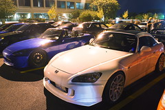 DSC03352 (Photography by BNC) Tags: auto car vw night honda photography long exposure nissan jeep flash mob toyota mazda audi acura meet mitsubishi jdm