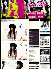 "Fansite ""Miss Hanna Beth Brasil"" (popdesigngallery) Tags: pink news green fashion design style webdesign fansite hannabeth"