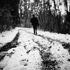 (i k o) Tags: trees winter blackandwhite bw mountain snow blur 35mm tour path sony highcontrast cctv bn neve f2 fujian alpha vignetting inverno manualfocus biancoenero gorizia fotografico percorso f17 sfocatura mirrorless montecalvario cmount nex3