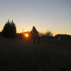 Caught In The Act (Liz.Photography) Tags: trees winter sunset girl scarf bare longhair flare uggs ourdailychallenge
