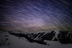 star trails over aspen highlands (tmo-photo) Tags: winter snow mountains night stars outdoors highlands colorado aspen startrails milkyway tmophoto