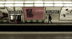 Duroc, Paris (Mairead D) Tags: travel paris france station train underground subway advertising french frankreich metro trainstation commute subwaystation commuters metrostation undergroundstation duroc