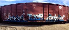 REBUKER TEXER ROKA (UTap0ut) Tags: california art cali train graffiti paint rail alb graff freight rebuke texer uploaded:by=flickrmobile flickriosapp:filter=nofilter