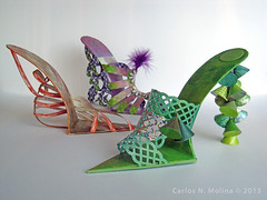 Trio - Paper Shoes (Carlos N. Molina - Paper Art) Tags: paperart women shoes origami highheels kirigami clinic healing puertoricanart papershoes papersculptures wwwcarlosnmolinacom puertoricanartist carlosnmolina