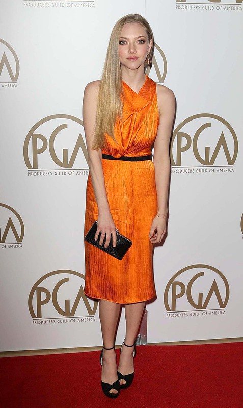 24th Annual Producers Guild Awards, held at The Beverly Hilton Hotel - Arrivals Featuring: Amanda Seyfried - WENN.com