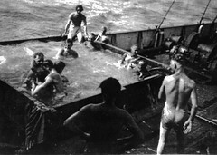 Image titled Crew of SS Casmia Crossing the Equator 1948