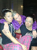 Dani Harmer posted a photo of herself with fellow 'Strictly Come Dancing' contestants Denise van Outen and Lisa Riley on Twitter with the caption '@MichaelVaughan dad what is up with middle sisters's eyebrows??! Xxx'