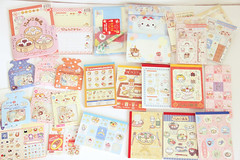 nyan nyan nyanko collection (fondoftea) Tags: stickers sanx nyanko memopad letterset stickersack kawaiistationery nyannyannyanko