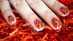 chinese new year nail art 1 (musicalhouses) Tags: red nail nails nailpolish nailart sallyhansen modelsown
