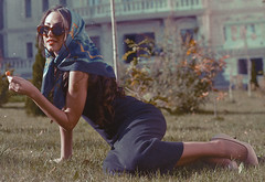 Michelle (Geta Bagheta) Tags: portrait woman girl beautiful beauty make up fashion female vintage expressive brunette emotive