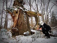 redandjonny: An AT-AT nest (RedandJonny) Tags: winter snow ontario canada love star stormtroopers stormtrooper wars atat caledonia