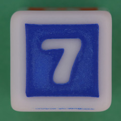 Phase 10 Dice Blue number 7 (Leo Reynolds) Tags: dice canon eos iso100 7 number seven di 60mm f80 onedigit number7 0sec 40d hpexif 066ev numberset grouponedigit xsquarex xleol30x