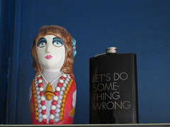 Let's do something wrong flask and doll (Christmas Junkie) Tags: canonpowershotg11 home