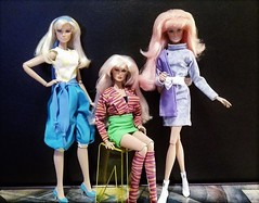 New Fashions (screamboy19) Tags: integrity color infusion jem holograms group 80s fashions friend stranger disguise roxy misfits jerrica benton clash