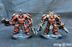 Thamier-pattern Obliterators (KrautScientist) Tags: 40k 4thassaultcompany warhammer40k worldeaters conversion chaos chaosspacemarines csm kitbash c obliterator thamier khorne khornes eternal hunt