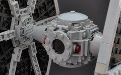 TIE fighter (4) (Inthert) Tags: lego ship empire pilot moc star wars solar panel twin ion engine tie fighter rear imperial