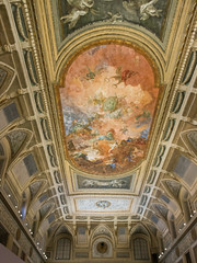 IMG_0153 (jaglazier) Tags: 19thcentury 19thcenturyad 2016 72316 architecture buildings campania copyright2016jamesaglazier domes frescoes grecoroman italy july museoarcheologiconazionale museoarcheologiconazionaledinapoli museums naples napoli national nationalarchaeologicalmuseum nazionale neoclassical religion rituals roccoco archaeology clouds interiors