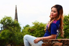 My girl in Ayutthaya. Is the former capital of Phra Nakhon Si Ayutthaya province in Thailand. And just a beautiful place. (freddykruegerthai) Tags: beautifulplace traveling ayutthaya