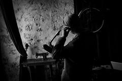 Groove Control Actual (Ranford Stealth) Tags: fujixt1 fuji35mmf14 man fremantle westernaustralia cafe music musician sax saxophone saxophonist baritonesax jazz mood moody blackwhite bw mono monochrome street streetportrait