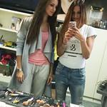 Kristina in Slavica na snemanju videospota za FOLX TV Make up: Sandra Puhar