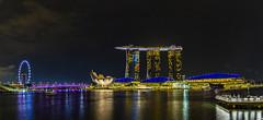 Marina Bay Sands Pano (alme 27) Tags: marinabaysands singapore pentax k5d sigmalens night singaporeflyer