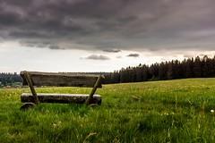 Thunderstorm lookout (mbridgener) Tags: summer thunderstorms lookout bench waether fields rural gewitter clouds wolken felder landschaft outdoor landscape canon eos 700d
