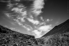 Cirrus (E PHOTO (www.oe-photo.com)) Tags: ephoto rnerlendsson iceland nature landscape fineart bw monochrome blackandwhite clouds mountains d600 nikon