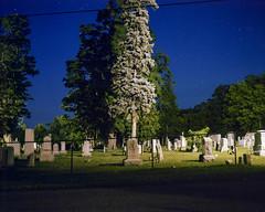 (Patrick J. McCormack) Tags: mamiya universal 6x7 film analog night cemetery graveyard burlington 120 glow