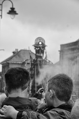 The Man Engine (Phil W Shirley) Tags: week302016 52weeksthe2016edition weekstartingfridayjuly222016 bw mono robot terminator man boy father son manengine cornwall liskeard mining miner tin industry metal