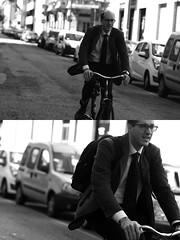 [La Mia Citt][Pedala] (Urca) Tags: milano italia 2016 bicicletta pedalare cicllista ritrattostradale portrait dittico nikondigitale mir bike bicycle biancoenero blackandwhite bn bw 881111