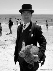 Dr. Takeshi Yamada and Seara (Coney Island Sea Rabbit) at the Coney Island Beach in Brooklyn, New York on June 9, 2016. 20160609Thu DSCN6464=0010ptCBW, Coney Island Beach (searabbits23) Tags: searabbit seara takeshiyamada  taxidermy roguetaxidermy mart strange cryptozoology uma ufo esp curiosities oddities globalwarming climategate dragon mermaid unicorn art artist alchemy entertainer performer famous sexy playboy bikini fashion vogue goth gothic vampire steampunk barrackobama billclinton billgates sideshow freakshow star king pop god angel celebrity genius amc immortalized tv immortalizer japanese asian mardigras tophat google yahoo bing aol cnn coneyisland brooklyn newyork leonardodavinci damienhirst jeffkoons takashimurakami vangogh pablopicasso salvadordali waltdisney donaldtrump hillaryclinton endangeredspecies save