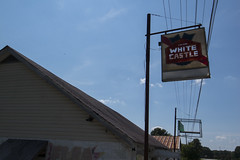 centerville, tn white castle (Nashville Street Photography) Tags: color ricohgrd ricohgrdcolor colorphotographer photogallery whitecastle sign signage oldsign