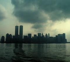 WTC 218 (stevensiegel260) Tags: worldtradecenter twintowers newyorkskyline manhattanskyline clouds storm 1980s