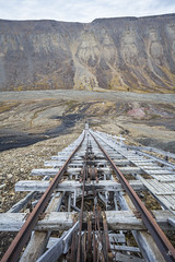 Tracks down (AnotherStepAway) Tags: urban urbex north cold ice mine mining miner ore digging industry industrial wood wooden structure hillside steep conveyor tracks cable landscape exploration ue cart exploring