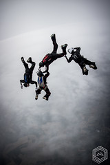 4way FS Team - Skyfall (mathieufournel) Tags: skydiving sky flying jumping blueskies parachute action sports