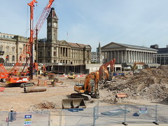 Museum & Art Gallery/Council House and Town Hall, Birmingham (Steve Hobson) Tags: birmingham museum art gallery town hall paradise construction