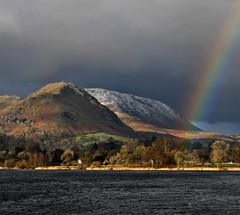 grasmere lake district england (plot19) Tags: uk winter england lake mountains water rain rainbow nikon day mood britain grasmere hills moors peaks windermere disrict plot19 mygearandme blinkagain