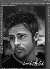 Brad Pitt (PAWLUK IVAN) Tags: portrait art argentina brad digital work painting design eyes flickr arte retrato digitalart progress exhibition digitalpainting adobe hollywood artistas rosario artistica pitt airbrushing dibujo artedigital pintura artista pinturadigital 2013 bratpitt ober pawluk misones dibujodigital ivanpawluk