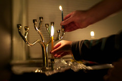 first night (damiec) Tags: light lensbaby hands candle hanukkah firstnight menorah owp shuttersisters