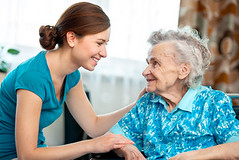 Home care (kelseygallo) Tags: old family people home senior smiling germany happy togetherness women sitting hand adult grandmother daughter young happiness medical indoors granddaughter help responsibility doctor elderly age trust disabled service lonely nurse care cheerful 80 aging healthcare nursing assistance crutch physical illness unwell impairment caregiver