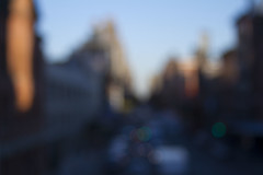 Chelsea (Rafael Alejandro Rodrguez) Tags: street city newyorkcity sunset newyork color art fall cars digital canon buildings lights blurry focus chelsea off rafael alejandro highline rafaelalejandro rafaelalejandrorodrguez