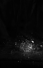 Light Bulb Shatter (Trevor Deslippe) Tags: canon kitlens 1855 highspeed strobist t2i ringexcellence