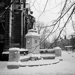 (boscoppa) Tags: snow 120 6x6 film zeiss newcastle memorial war ikon ilford stthomas nettar